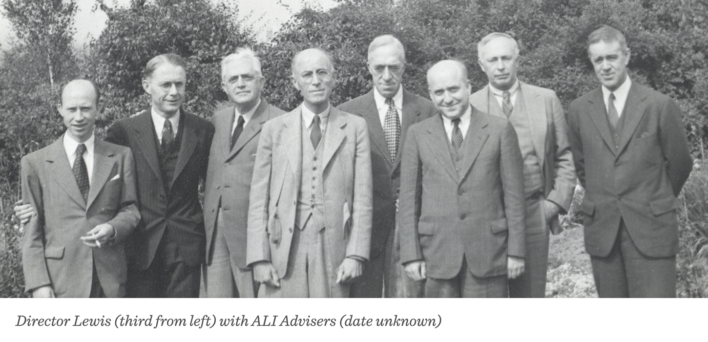 Director Lewis (third from left with ALI Advisers (date unknown)