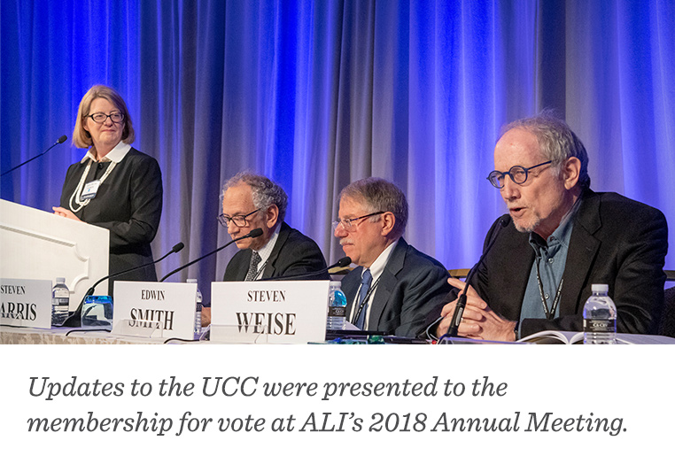 Updates to the UCC were presented to the membership for vote at ALI's 2018 Annual Meeting.