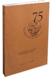 The American Law Institute 75th Anniversary Image