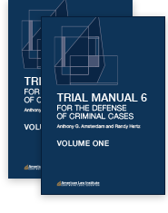 Trial Manual 6 for the Defense of Criminal Cases Image