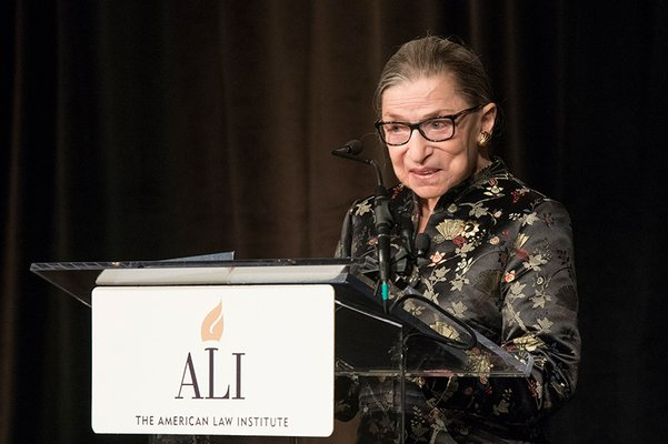 Justice Ruth Bader Ginsburg to Receive ALI's Friendly Medal